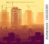 horizontal vector illustration... | Shutterstock .eps vector #136102283