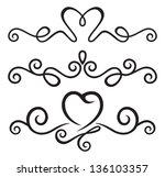 calligraphic floral elements | Shutterstock .eps vector #136103357