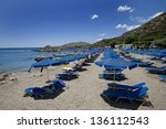 the famous ladiko beach in the... | Shutterstock . vector #136112543