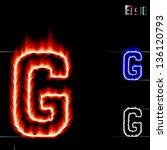 vector fire letter g | Shutterstock .eps vector #136120793
