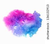 Abstract watercolor splash. Watercolor drop.   Shutterstock vector #136132913