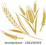 wheat set | Shutterstock .eps vector #136156343