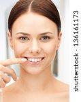 bright closeup portrait picture ... | Shutterstock . vector #136161173
