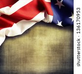 closeup of american flag on... | Shutterstock . vector #136170953