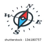 compass vector illustration...   Shutterstock .eps vector #136180757