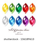 crystals icons set of 10 colors ... | Shutterstock .eps vector #136189613