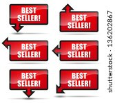 best seller arrow left | Shutterstock .eps vector #136202867