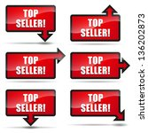 top seller arrow right | Shutterstock .eps vector #136202873