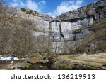 Malham Cove In The Yorkshire...