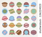 round vintage emblems of... | Shutterstock .eps vector #136224023