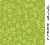 seamless pattern with eggs on a ... | Shutterstock .eps vector #136236287