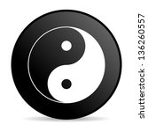 ying yang black circle web