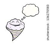 happy cartoon cloud | Shutterstock . vector #136270583