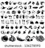 food and drink icons set | Shutterstock .eps vector #136278593