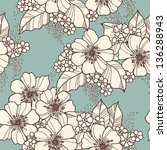 elegance seamless pattern with... | Shutterstock . vector #136288943