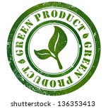 green product grunge stamp  in... | Shutterstock . vector #136353413