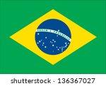 brazil flag | Shutterstock .eps vector #136367027