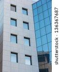 abstract modern building detail ... | Shutterstock . vector #136367687