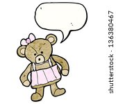cartoon teddy bear | Shutterstock . vector #136380467