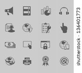 web technology icon set vector... | Shutterstock .eps vector #136401773