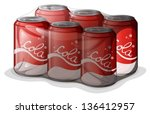 illustration of a pack of cola... | Shutterstock .eps vector #136412957