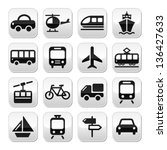 transport  travel vector... | Shutterstock .eps vector #136427633