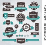 set of retro labels  buttons... | Shutterstock . vector #136431347