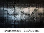 modern technology code... | Shutterstock . vector #136439483