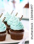 chocolate cupcakes | Shutterstock . vector #136446497