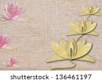 Water Lily On Fabrics ...