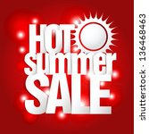 hot summer sale paper folding... | Shutterstock .eps vector #136468463