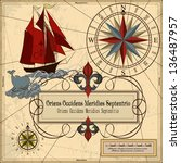 nautical vector illustration... | Shutterstock .eps vector #136487957