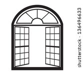 Open Window Outline Vector