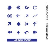 web arrows  directions icons ... | Shutterstock .eps vector #136499087