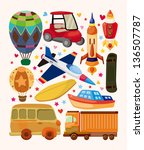 set of transport icons | Shutterstock .eps vector #136507787