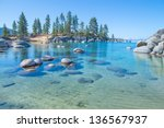 Beautiful Blue Clear Water On...