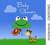 a cute clipart illustration  a... | Shutterstock . vector #136592063