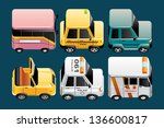 vehicles  icons | Shutterstock . vector #136600817