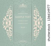wedding card or invitation with ...   Shutterstock .eps vector #136614977