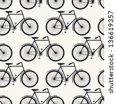 Seamless bicycles pattern. Stylish sporty print - stock vector
