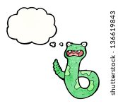 cartoon snake with thought... | Shutterstock . vector #136619843