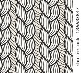 seamless pattern with hand... | Shutterstock .eps vector #136633847
