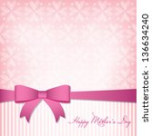 Happy mother's day card - stock vector