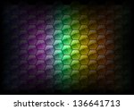 hexagon background texture as... | Shutterstock .eps vector #136641713