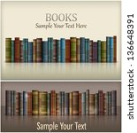 Number of new books on white & text, vector illustration. Vector Illustration. - stock vector