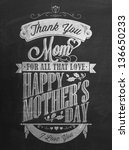 vintage happy mother's day... | Shutterstock .eps vector #136650233