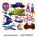 set of transport icons | Shutterstock .eps vector #136704857