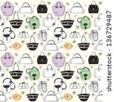 bags seamless pattern  vector | Shutterstock . vector #136729487