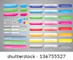 set of buttons | Shutterstock .eps vector #136755527