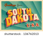 vintage touristic greeting card ... | Shutterstock .eps vector #136762013
